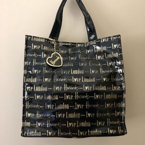 "Harrods ""Love Harrods"" Glitter Small Tote"